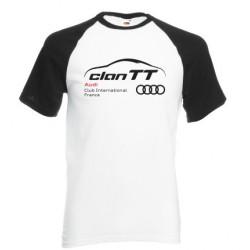 Tee-shirt bicolore blanc/noir Clan TT